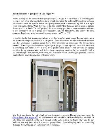 Best Technicians Of Garage Doors Las Vegas Nv By Twition Issuu