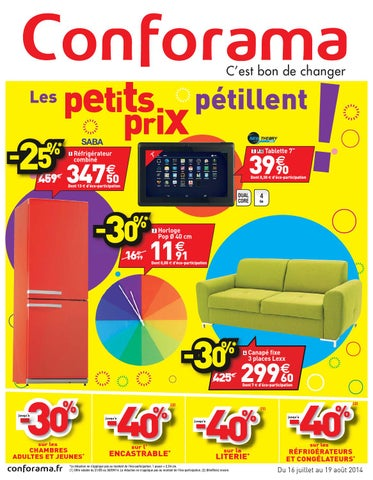 Conforama Catalogue 16juillet 19aout2014 By Promocatalogues