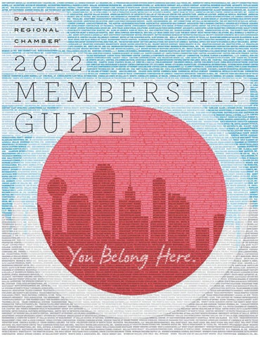 Dallas Regional Chamber 2012 Membership Guide By
