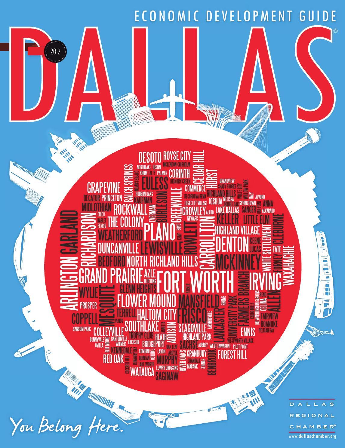 dallas economic development guide 2012 by dallas regional chamber