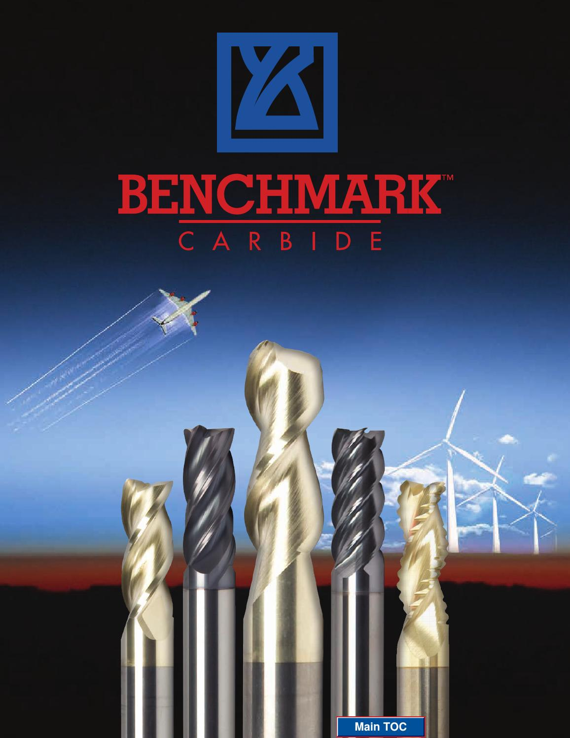 """3//16/"""" 3 Flute 5//8/""""LOC Benchmark HP Carbide End Mill For Aluminum #350-18710"""
