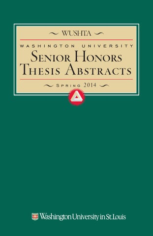 wustl honors thesis