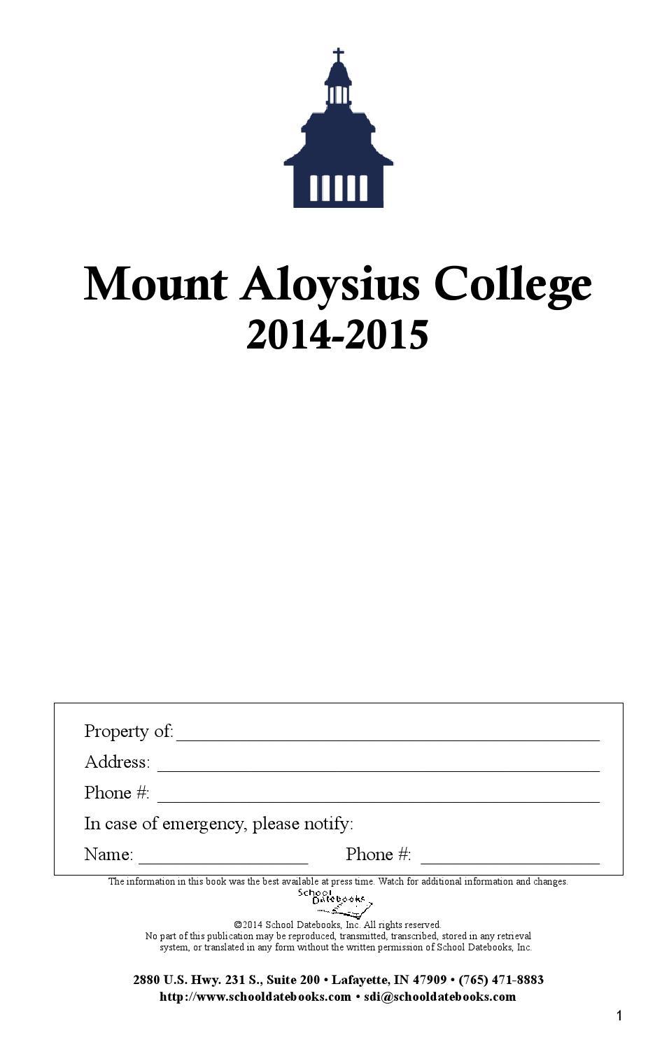 2014 2015 Student Handbook By Mount Aloysius College Issuu