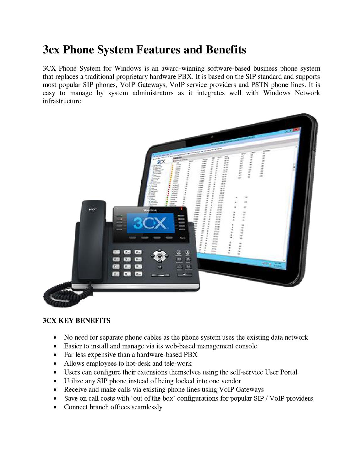 3cx phone system features and benefits by Terence King - issuu