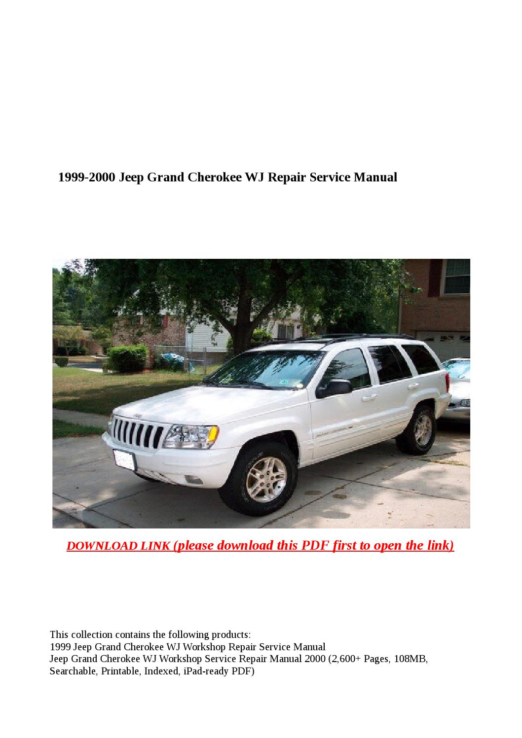 1999 2000 jeep grand cherokee wj repair service manual by Anna Tang - issuu
