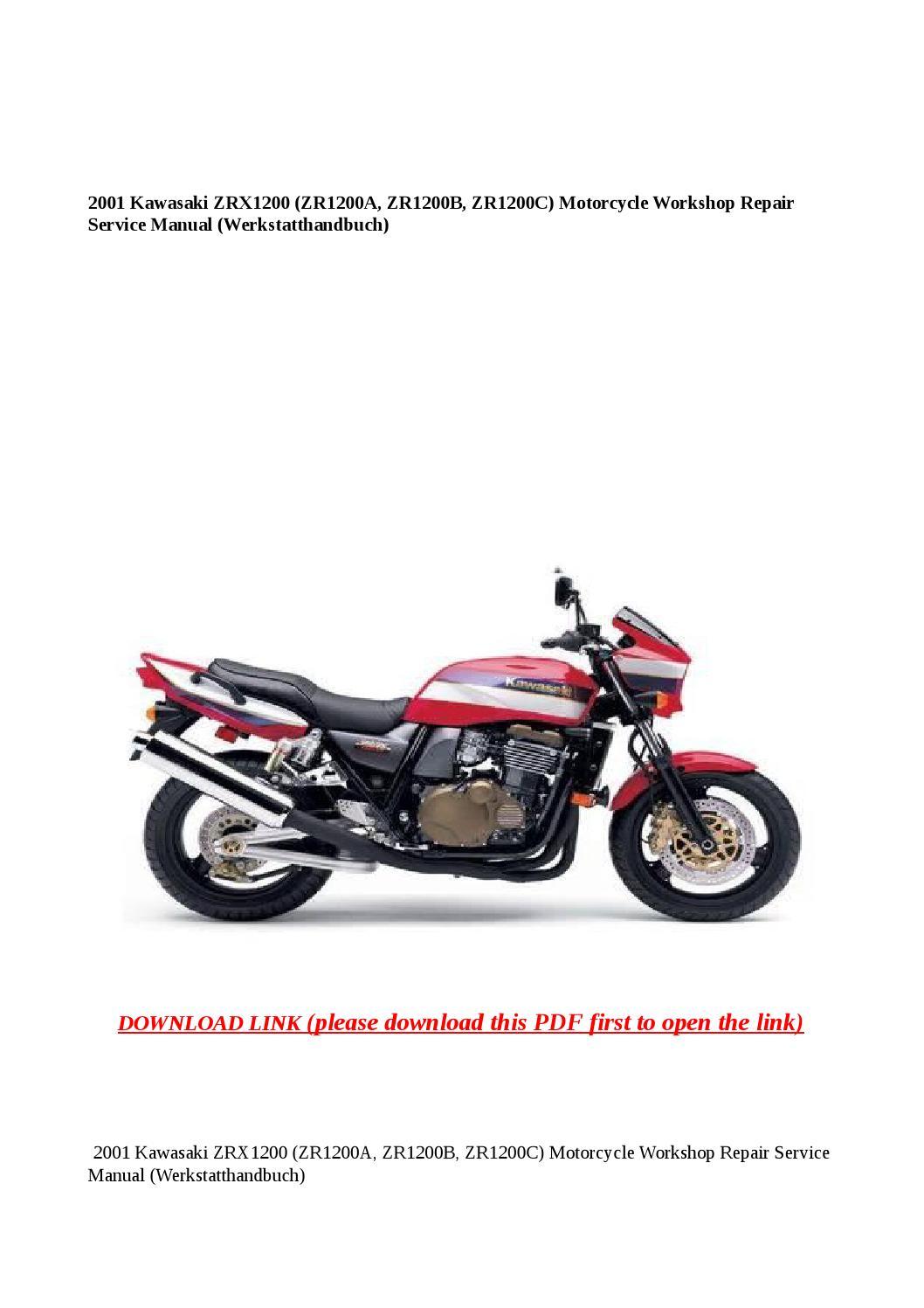 2001 kawasaki zrx1200 (zr1200a, zr1200b, zr1200c) motorcycle workshop  repair service manual (werksta by Anna Tang - issuu