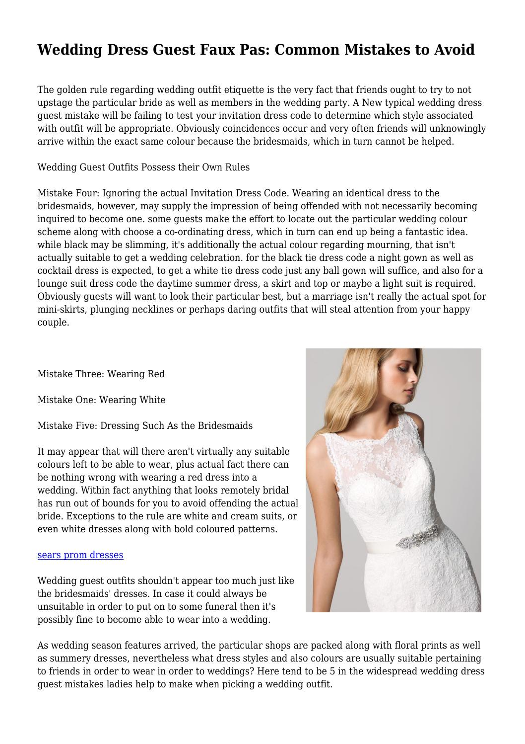 aa51dd97c9d Wedding Dress Guest Faux Pas  Common Mistakes to Avoid by fanaticalgrange51  - issuu