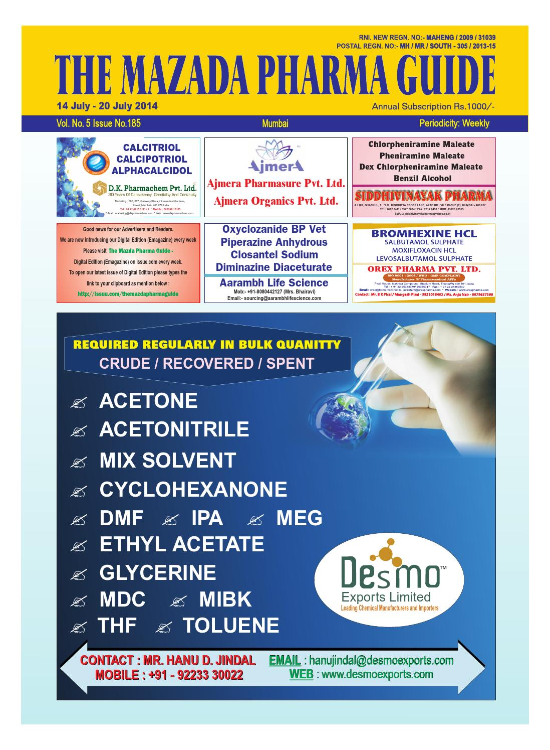 The Mazada Pharma Guide 14th July - 20th July 2014 by The