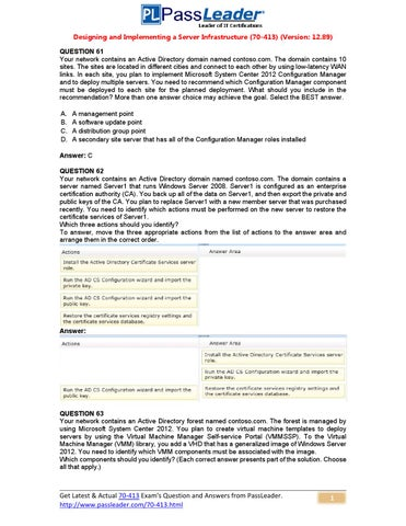 29c21f3d19fa Try Passleader 70-413 New Update Premium PDF Dumps (61-80) by ...