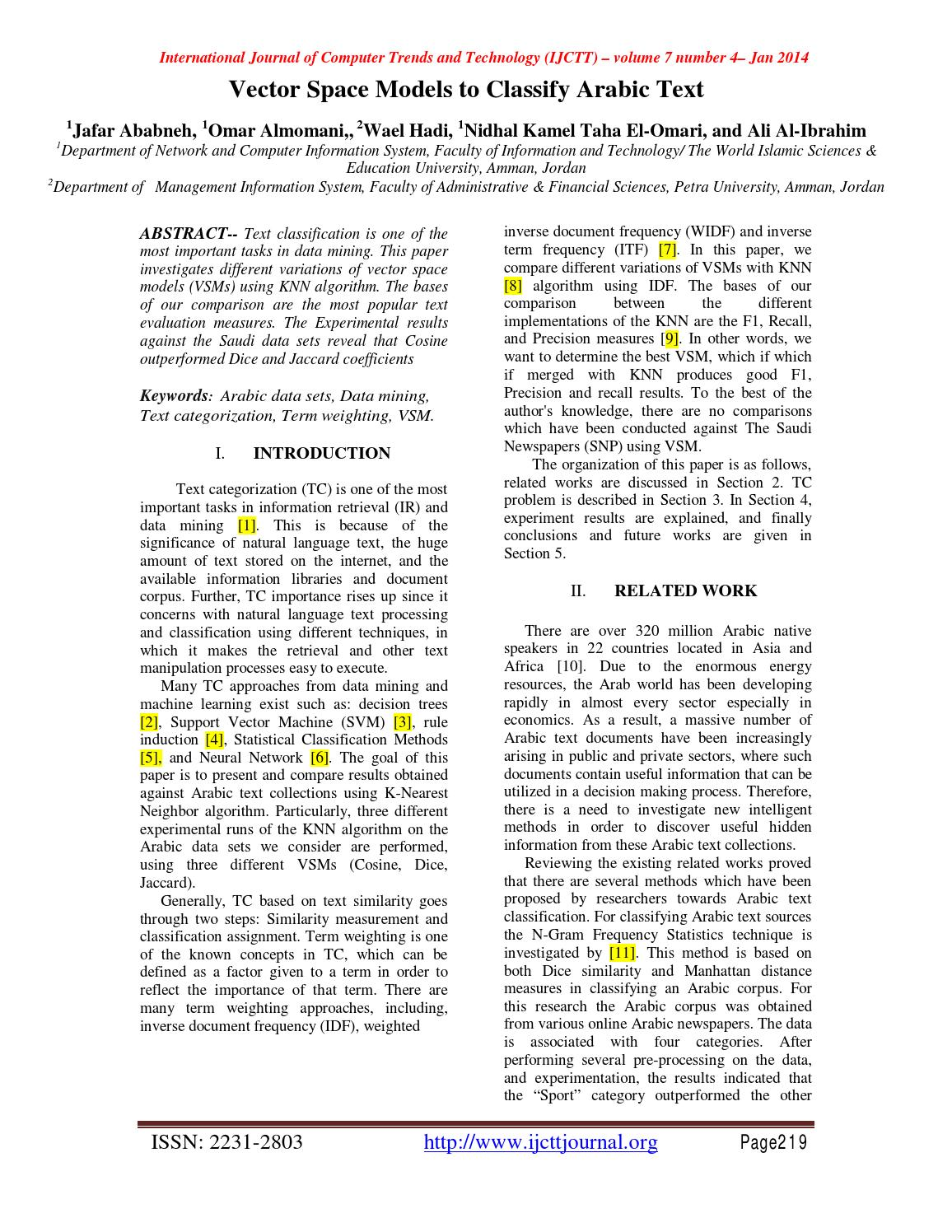 Ijctt v7p109 by Ssrg Journals - issuu