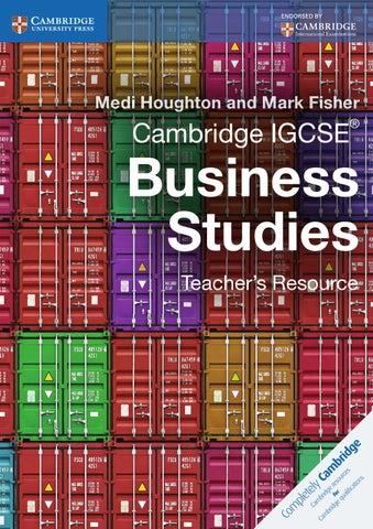 cambridge igcse business studies teacher s resource by cambridge
