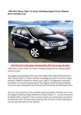 2005 2012 nissan tiida c11 series workshop repair service manual rh issuu com Nissan Tiida 2005 Interior Racy 2005 Nissan Tiida