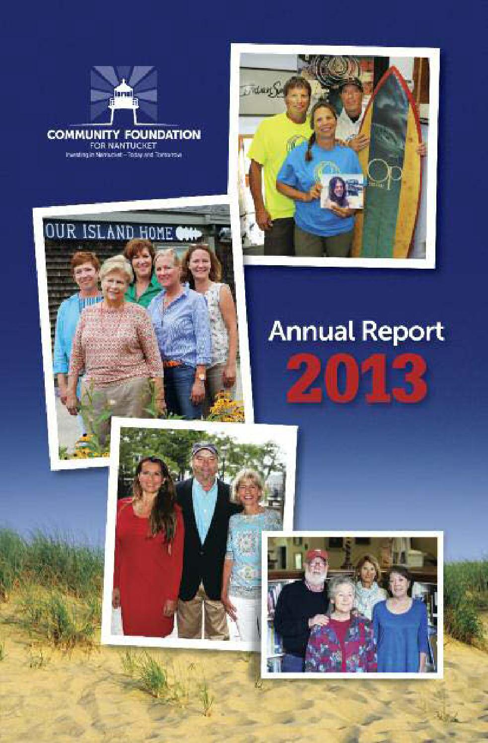 community foundation for nantucket 2013 annual report by novation
