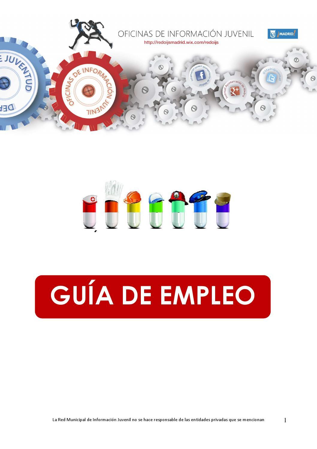 Gu a de empleo 2014 by oficina informacion juvenil for Oficinas de trabajo temporal