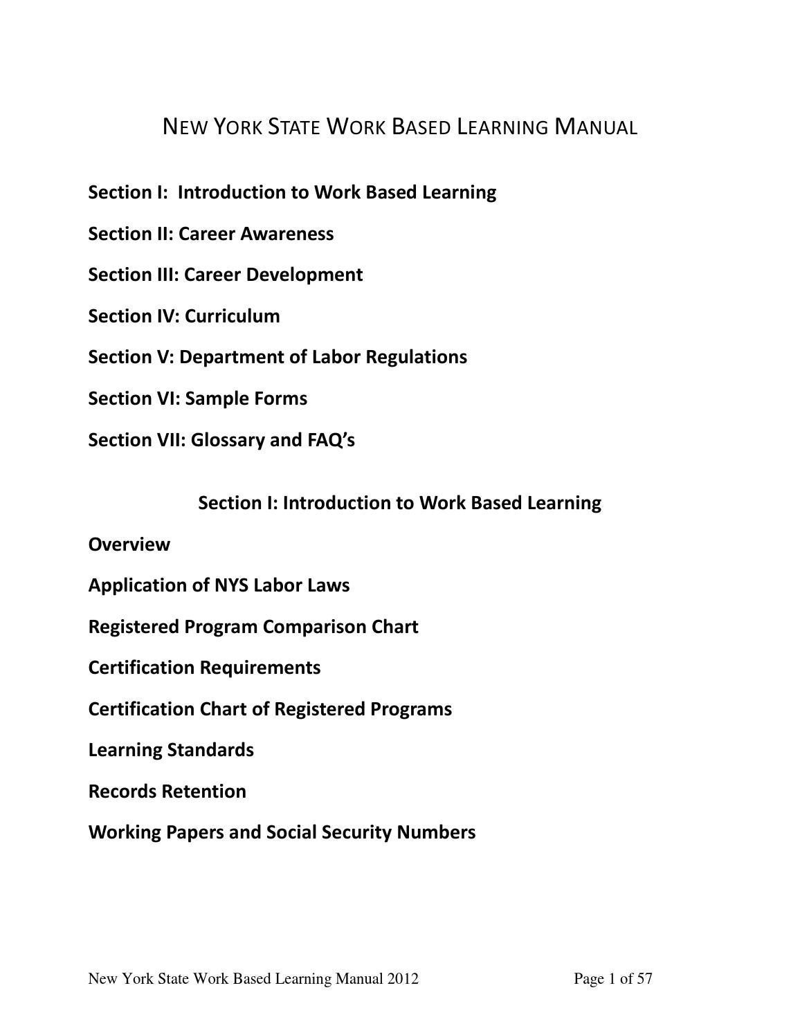 Work Based Learning Manual March 2013 By Marisa Issuu