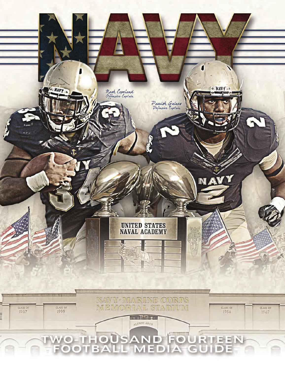 a53f17377 2014 Football Guide by Naval Academy Athletic Association - issuu