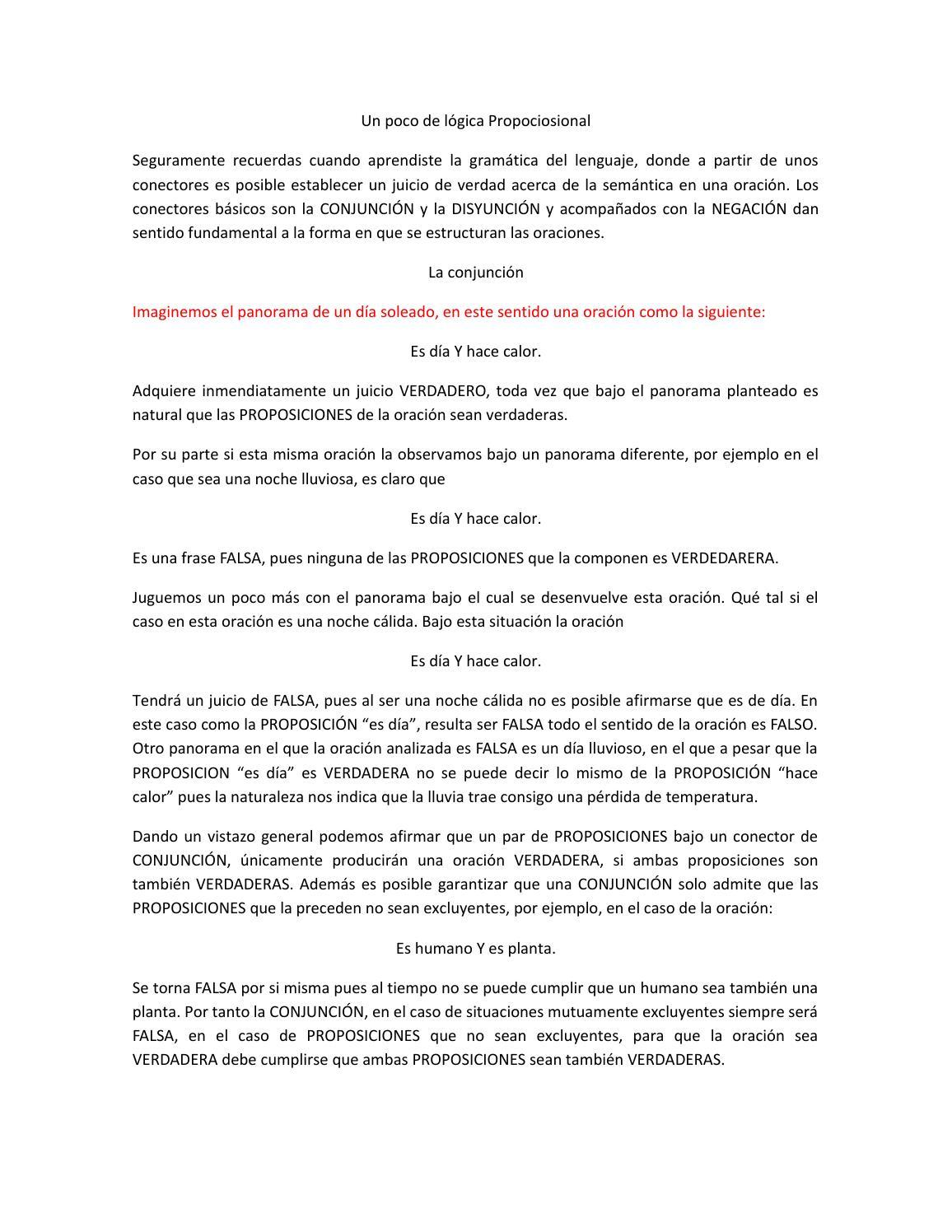 Un Poco De Lógica Propociosional By Santiago Murillo Rendon
