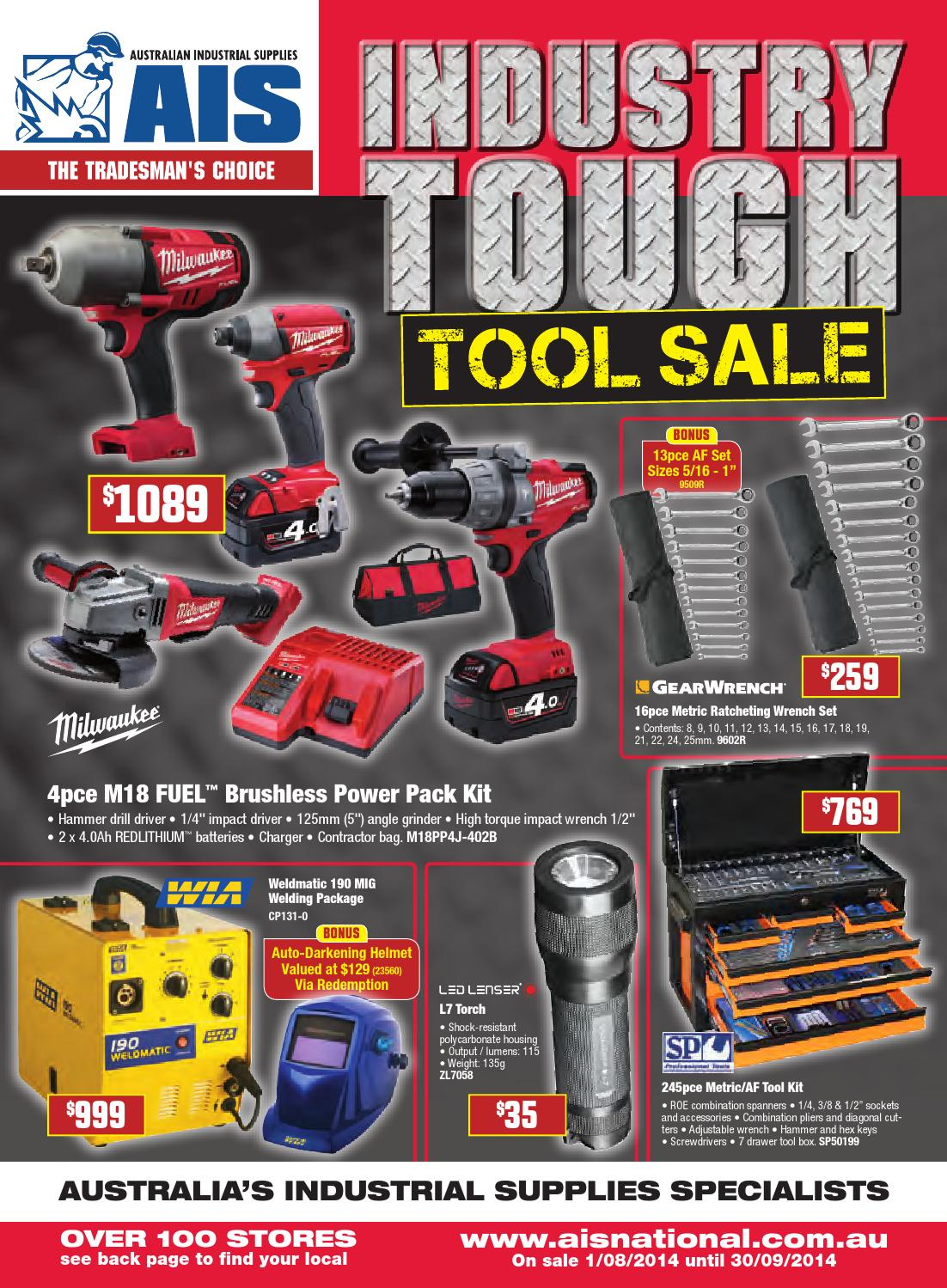 Ais Aug-sep  U0026 39 Industry Tough Tool Sale U0026 39  Catalogue By Australian Industrial Supplies Ltd