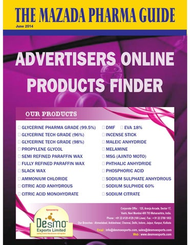 The Mazada Pharma Guide - Advertisers Online Product Finder ( june