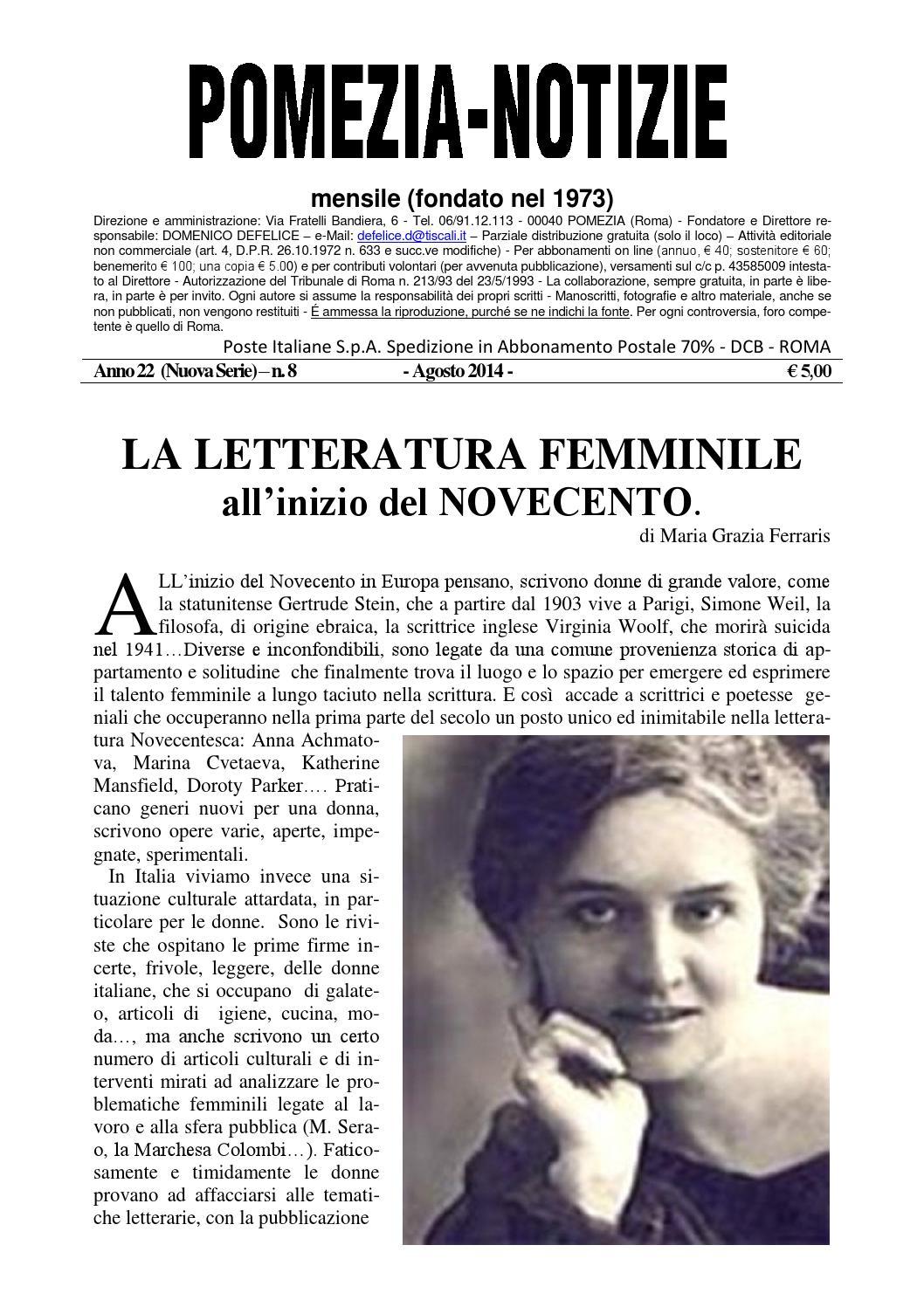 Pomezia Notizie 2014 8 by Domenico - issuu 5b76d9b19590