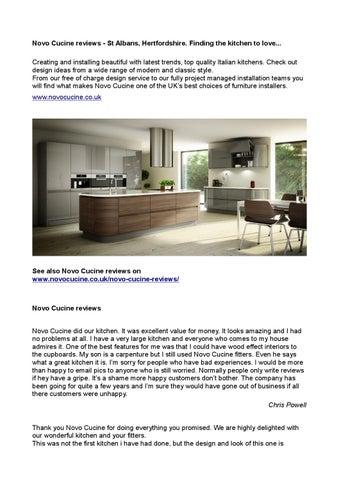 Novo cucine reviews by NovoCucine - issuu