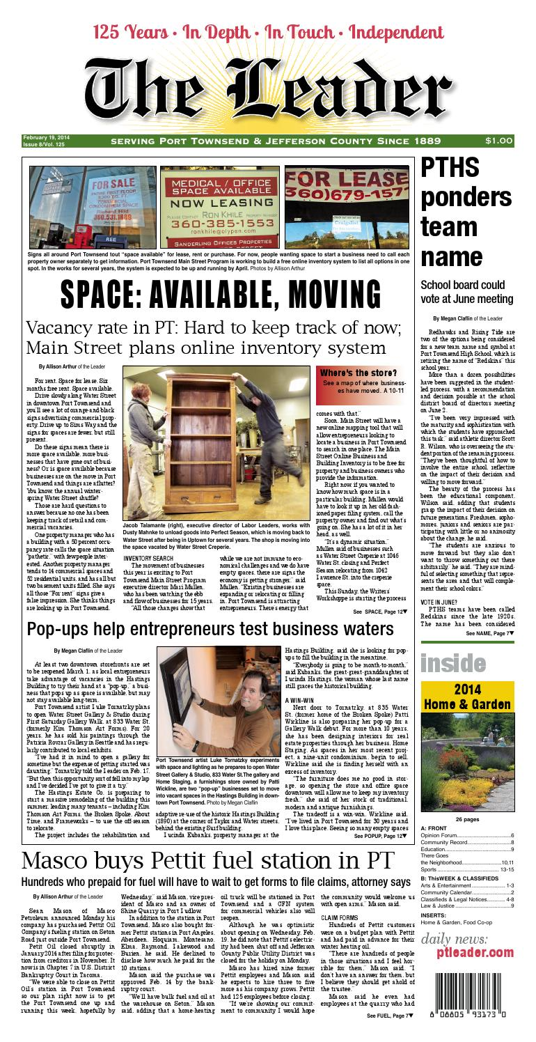 Port Townsend Leader: February 19, 2014 by Port Townsend