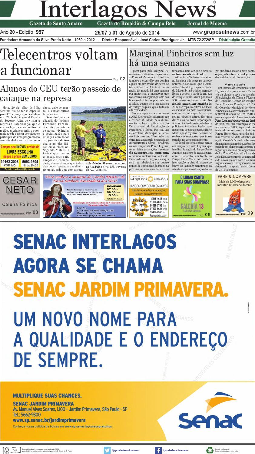 7c4da07b1f3 Edição 957 - 26 de Julho a 01 de Agosto de 2014 by Grupo Sul News - issuu