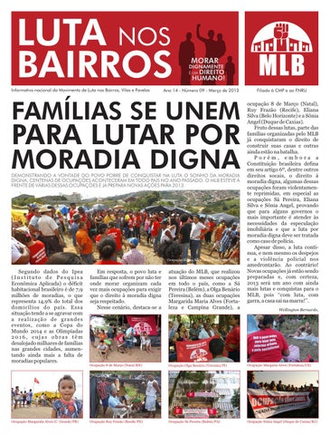 Jornal Luta nos Bairros - 1º semestre 2013 by MLB Brasil - issuu e3ad1d5215a09