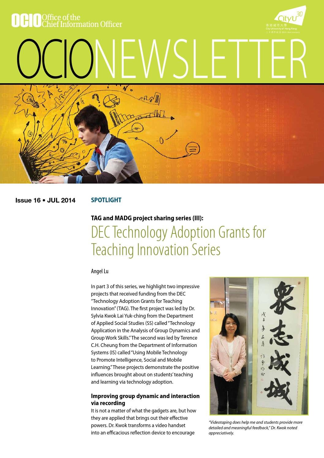 OCIO Newsletter issue 16 by City University of Hong Kong - issuu