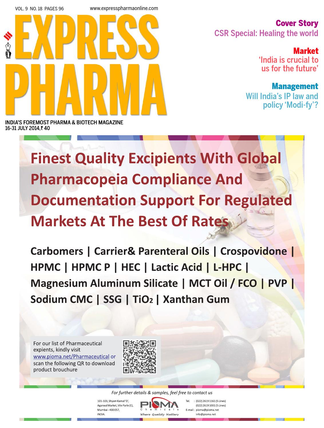 Express Pharma July 16-31, 2014 by Indian Express - issuu