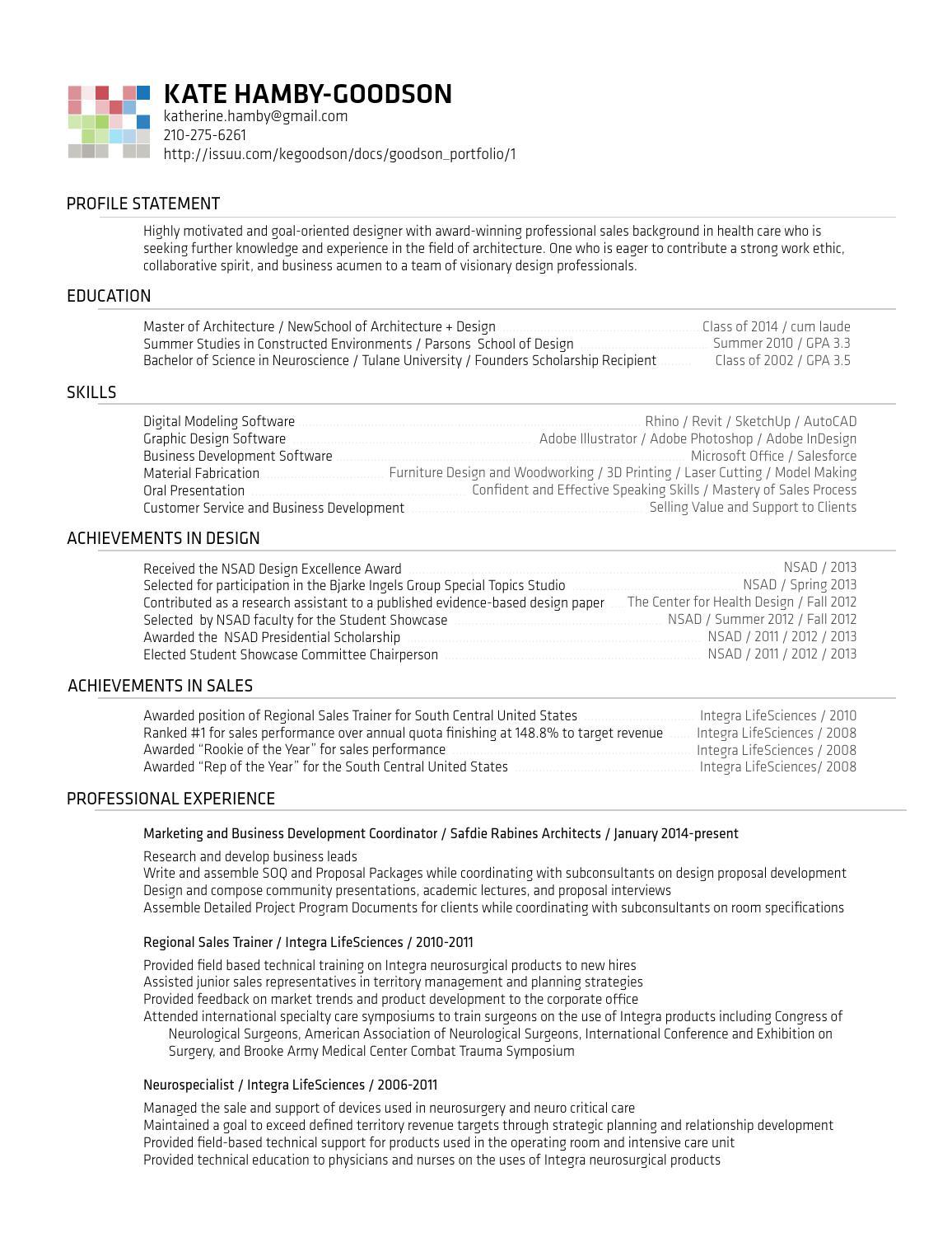 resume kate hamby-goodson by kate goodson