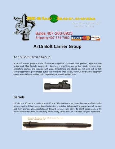 Ar15 bolt carrier group by m4 broker - issuu