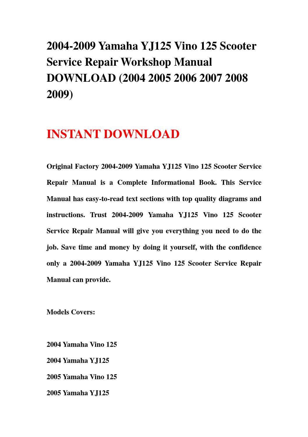 Page on Yamaha Vino 125 Carburetor