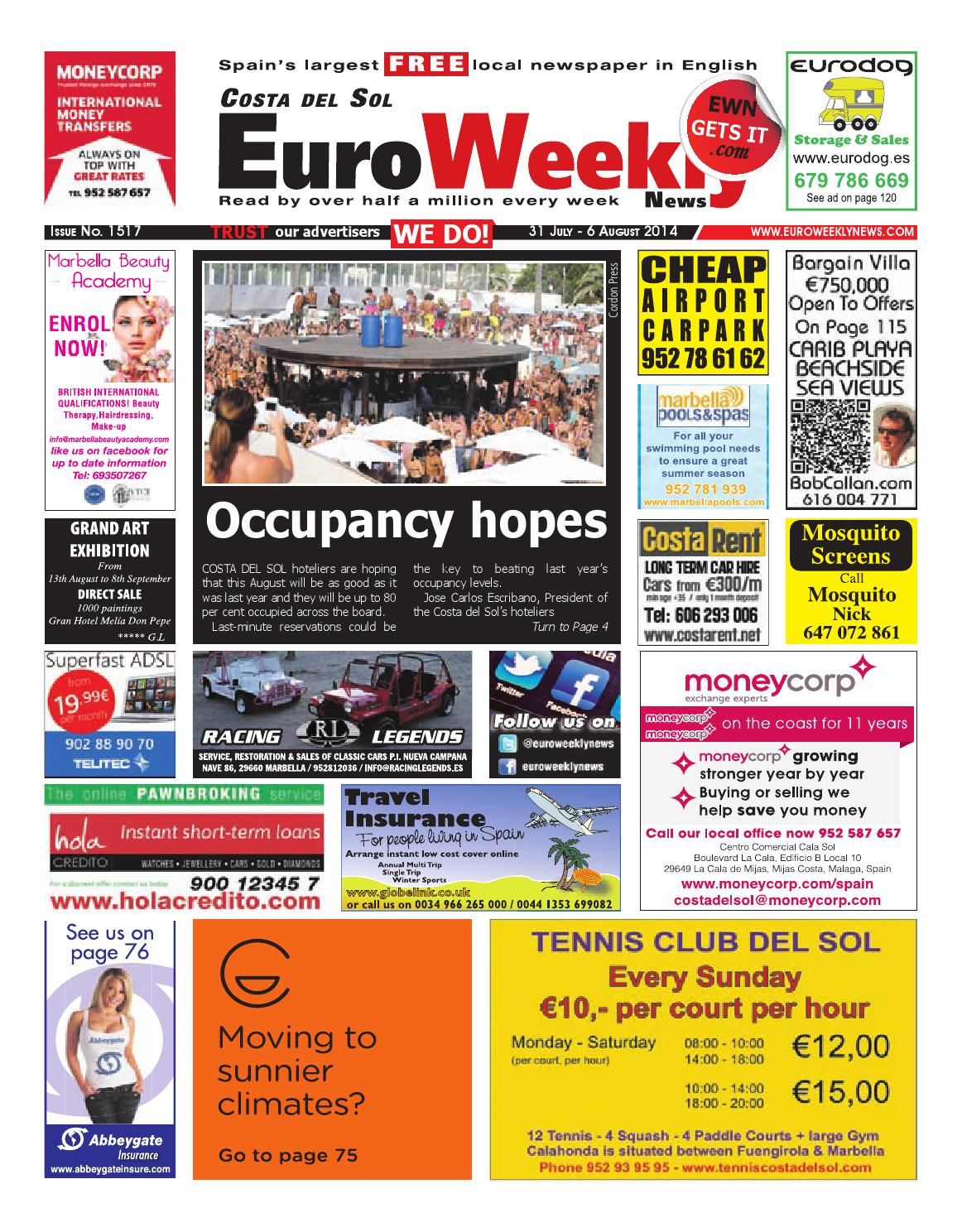 Euro weekly news costa del sol 31 july 6 august 2014 issue 1517 euro weekly news costa del sol 31 july 6 august 2014 issue 1517 by euro weekly news media sa issuu fandeluxe Image collections