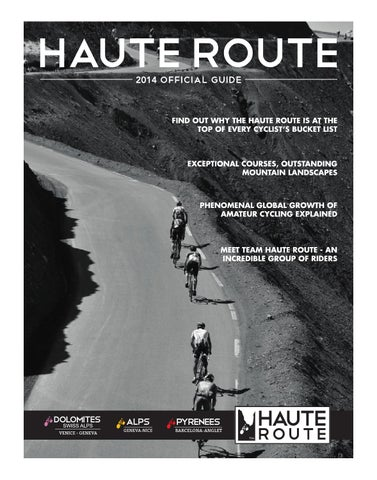 Haute route 2014 official guide by oc sport issuu for 2014 haute route