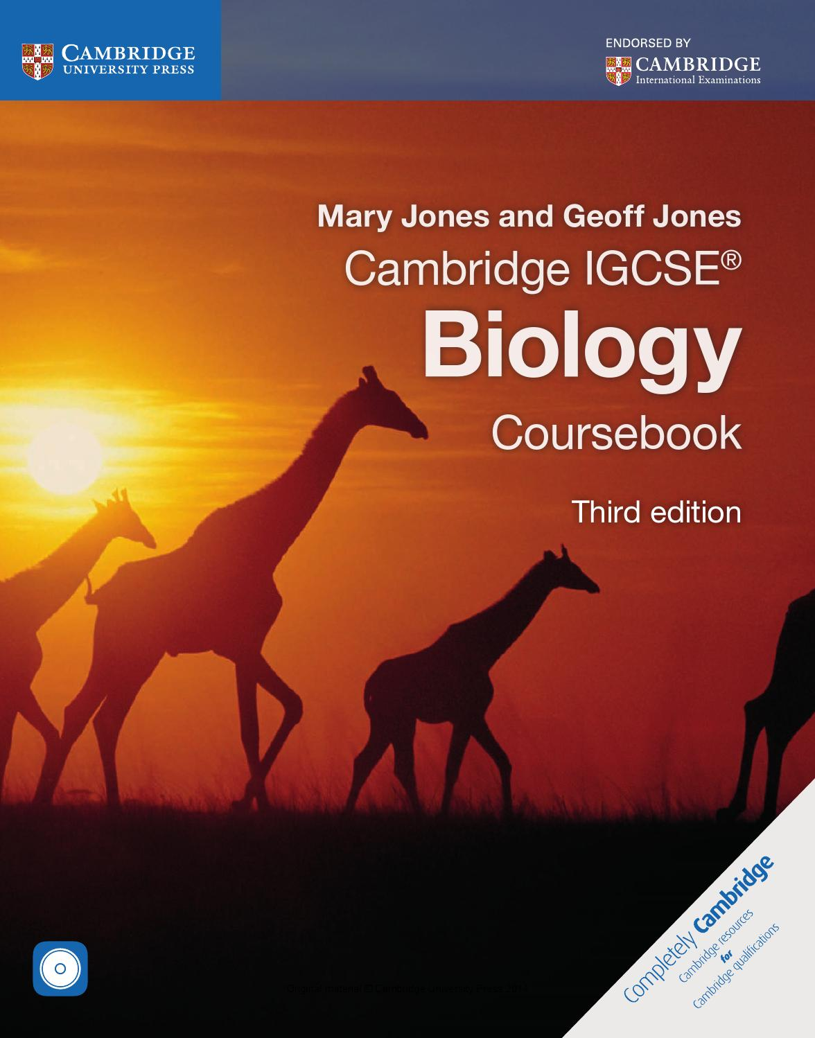 Cambridge IGCSE Biology Coursebook (third edition) by