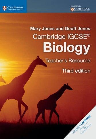 Cambridge IGCSE Biology Teacher S Resource Third Edition