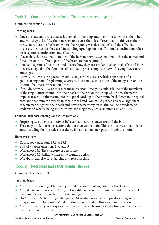 Cambridge IGCSE Biology Teacher's Resource (third edition) by ...
