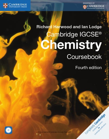 Cambridge IGCSE Chemistry Coursebook (fourth edition) by