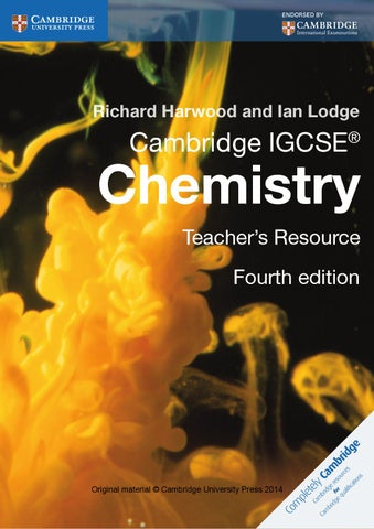 Cambridge IGCSE Chemistry Teacher S Resource Fourth Edition