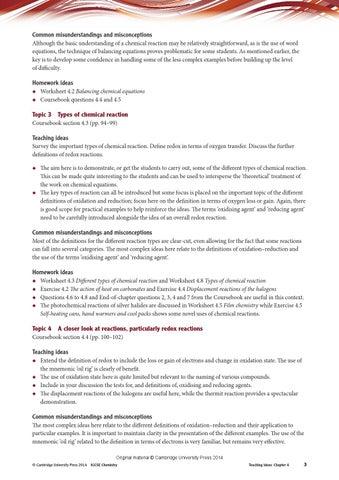 Cambridge IGCSE Chemistry Teacher's Resource (fourth edition) by ...