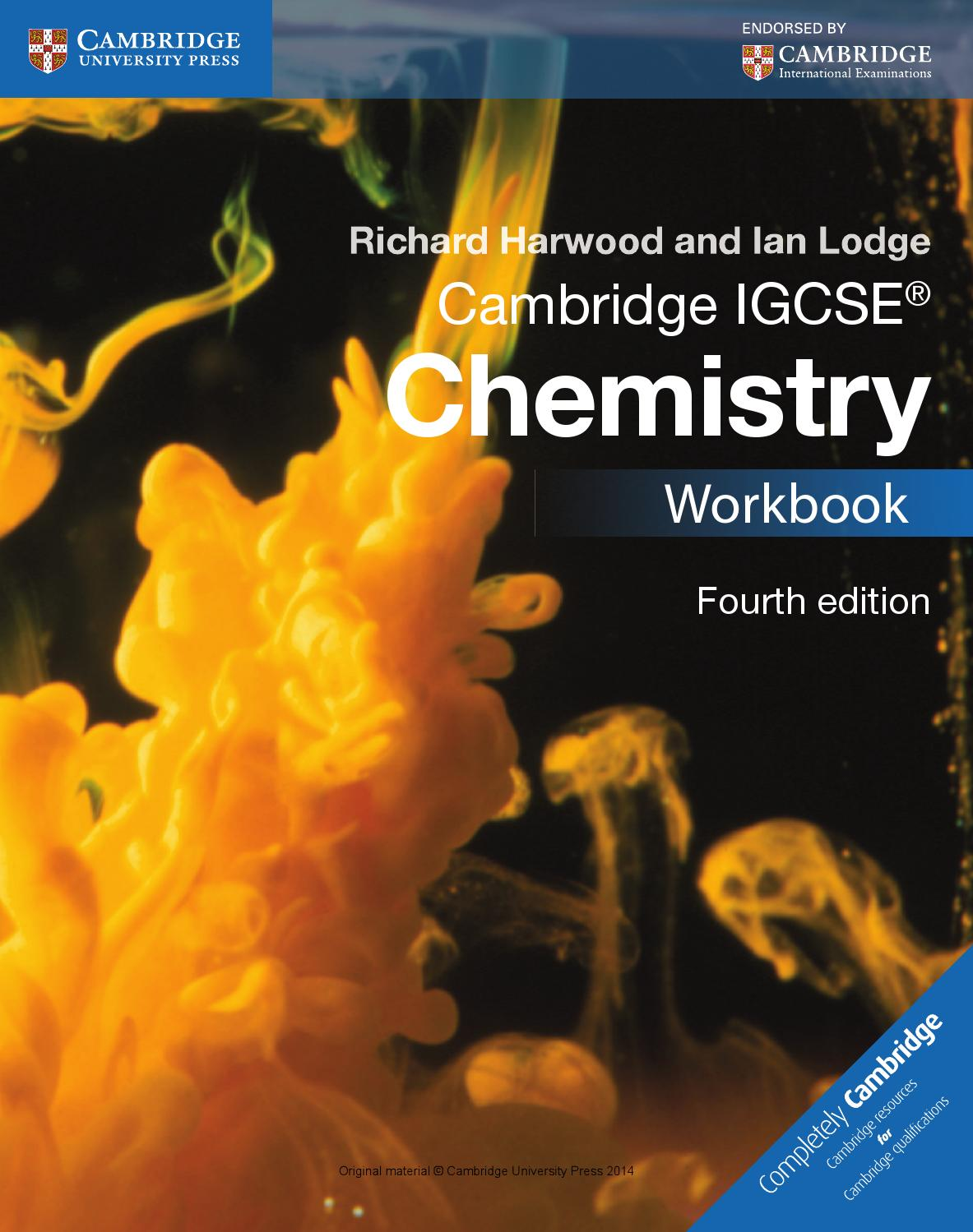 Cambridge IGCSE Chemistry Workbook (fourth edition) by Cambridge ...