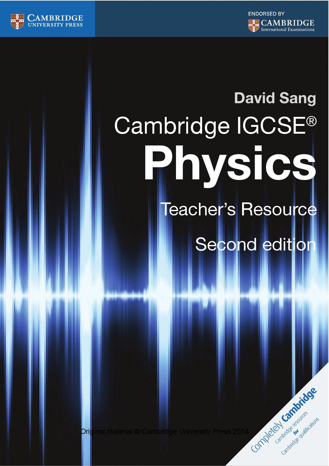 Cambridge Igcse Physics Teacher S Resource Second Edition By