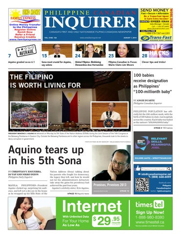 CALL TOLL FREE. CANADA'S FIRST AND ONLY NATIONWIDE FILIPINO-CANADIAN  NEWSPAPER ...