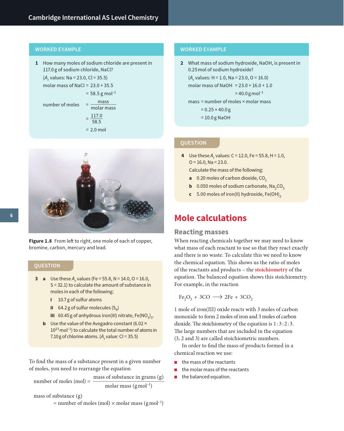 Cambridge International AS and A Level Chemistry Coursebook with CD-ROM by  Cambridge University Press Education - issuu