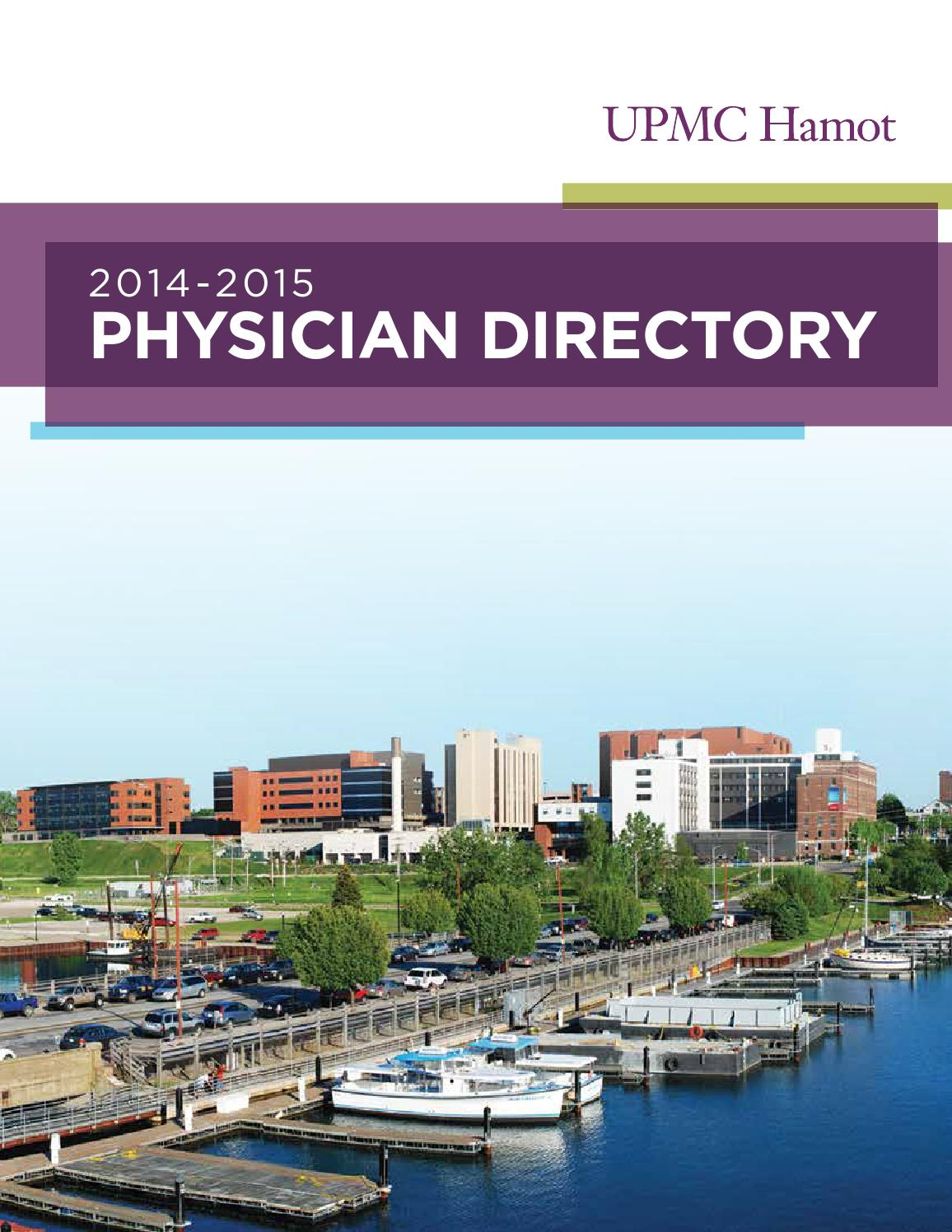 Upmc Hamot Physician Directory 2014 2015 By Tungsten Creative Group Issuu