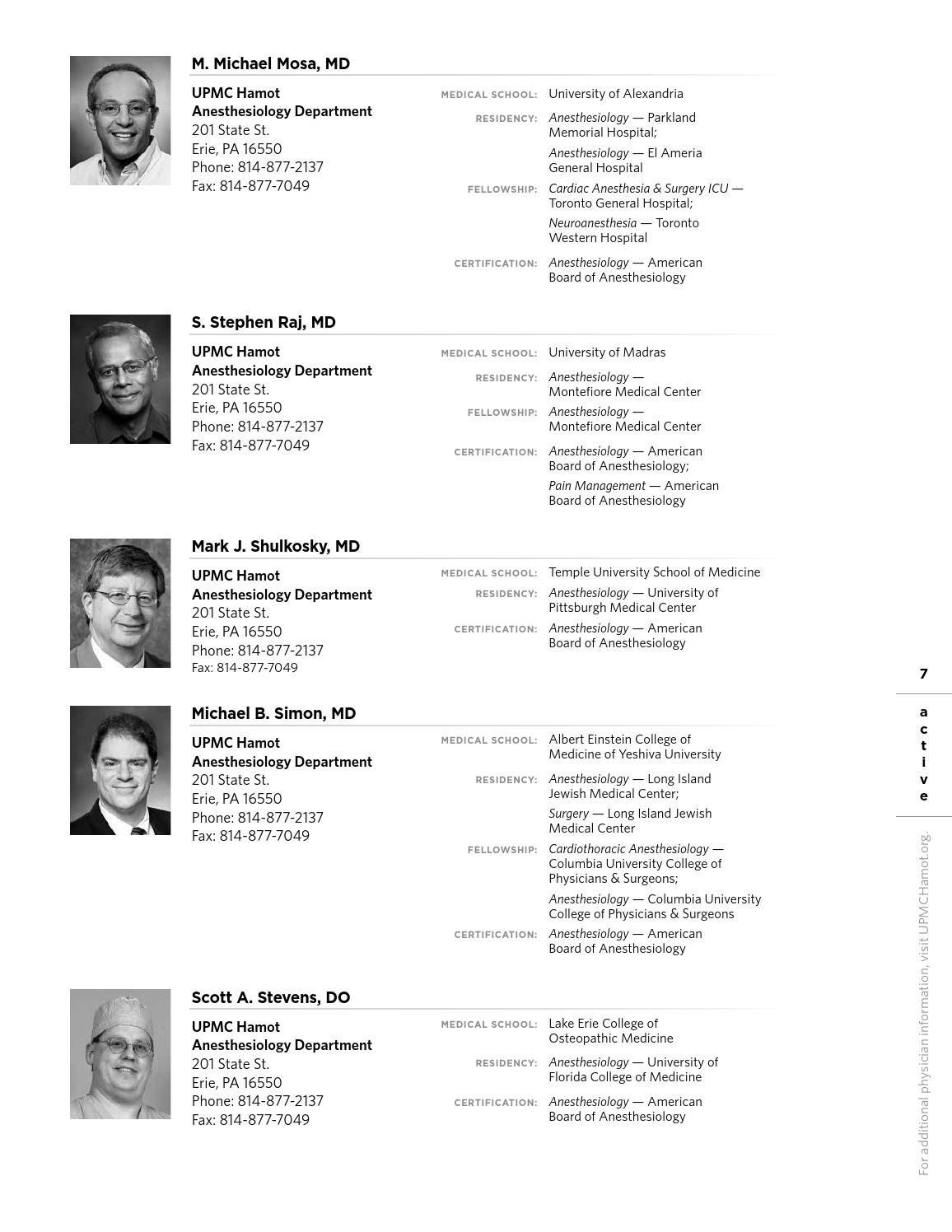 UPMC Hamot Physician Directory 2014-2015 by tungsten