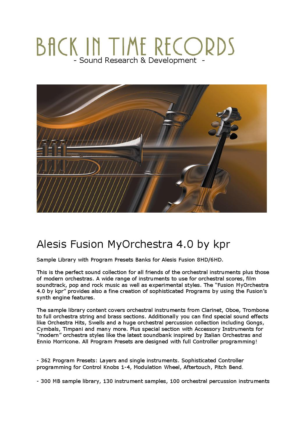 Fusion myorchestra 4 0 by kpr product overview