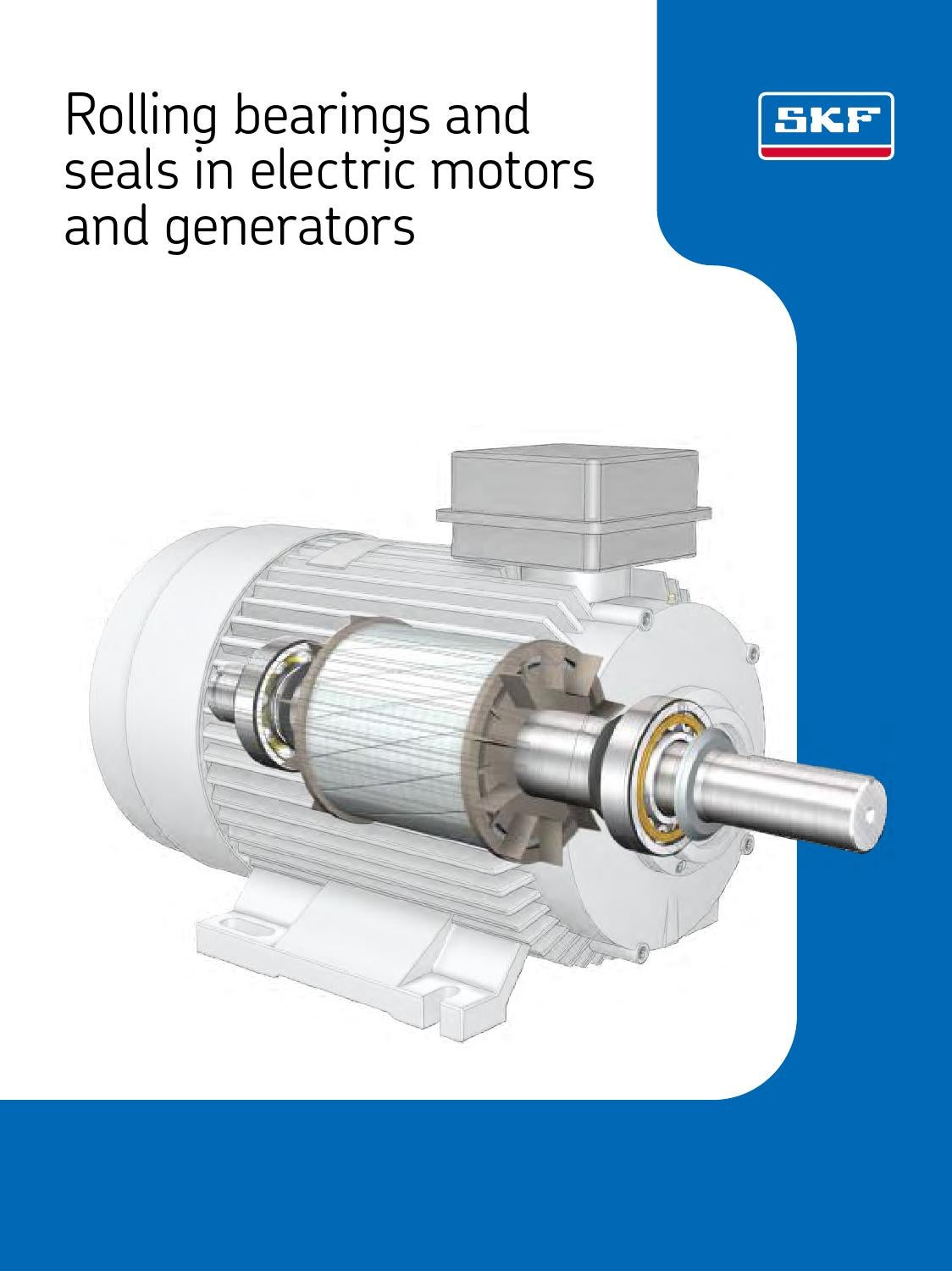 Skf Rolling Bearings Seals In Electric Motors Generators En By Eriks Generator Diagram Simple The Ac Allow Nederland Issuu