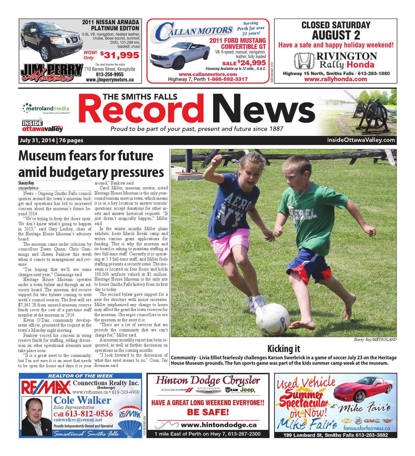 d54bd15c1 Smithsfalls073114 by Metroland East - Smiths Falls Record News - issuu
